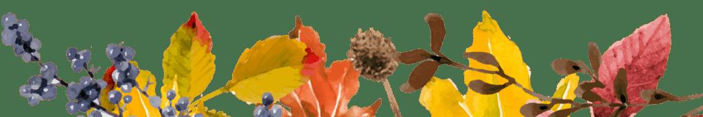 Autumn leaf footer
